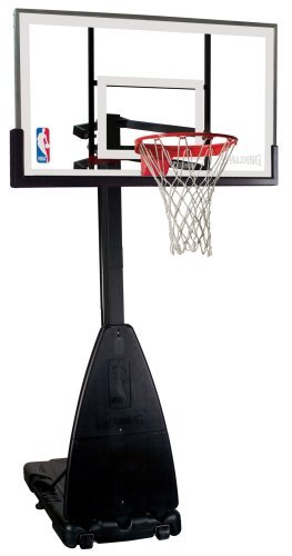 Spalding NBA Portable Basketball System - 54 Glass Backboard