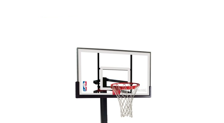 Spalding NBA Portable Basketball System 54 glass backboard review
