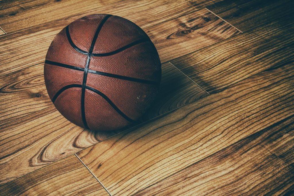 ball on wooden floor