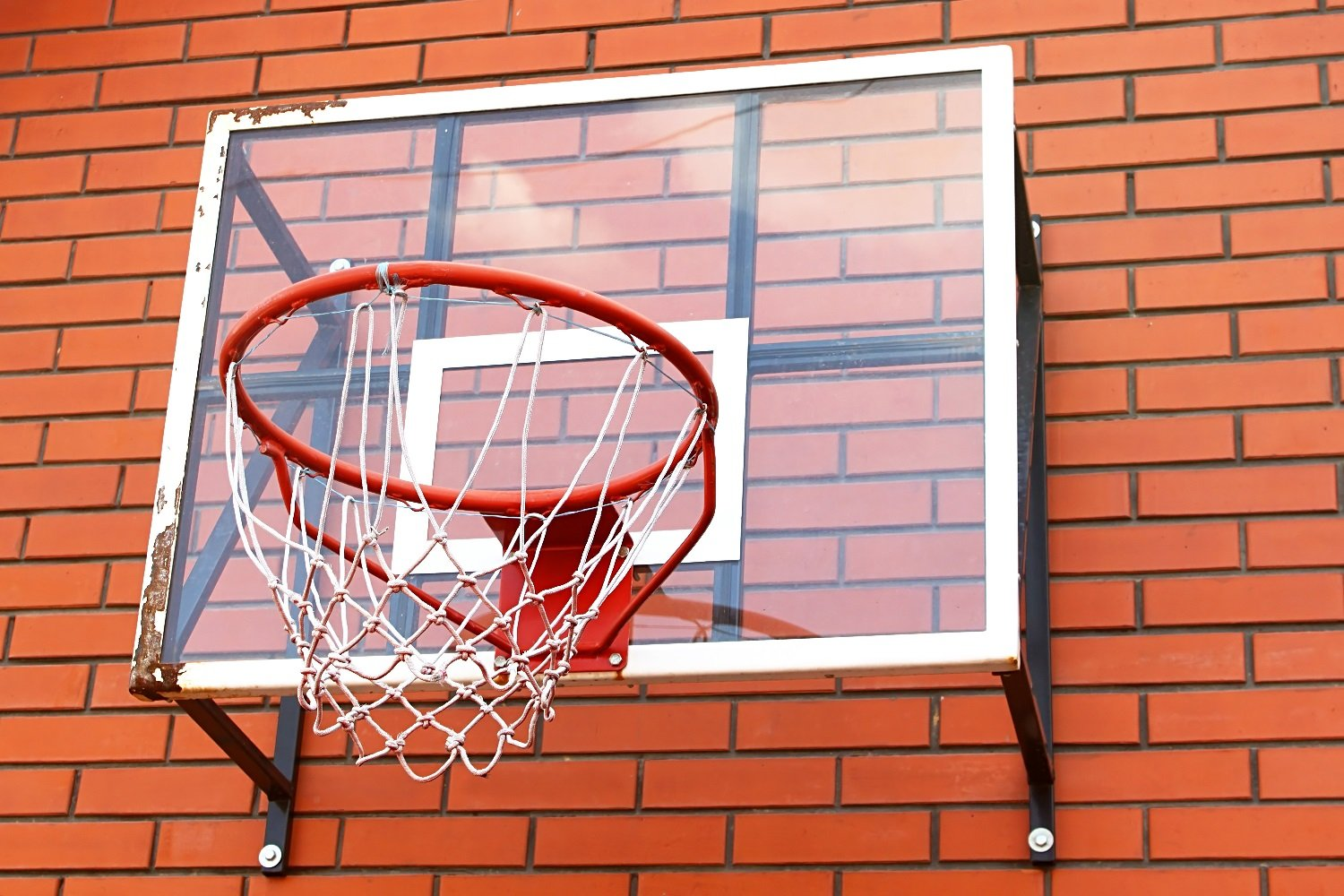 Gxing Wall Mounted Goal Hoop Rim Net,Hanging Basketball Hoop Backboard Foldable Set with Net Screw for Outdoors Indoor Sports,Durable Heavy Duty Steel Frame,Parent-child Adult Children Toys