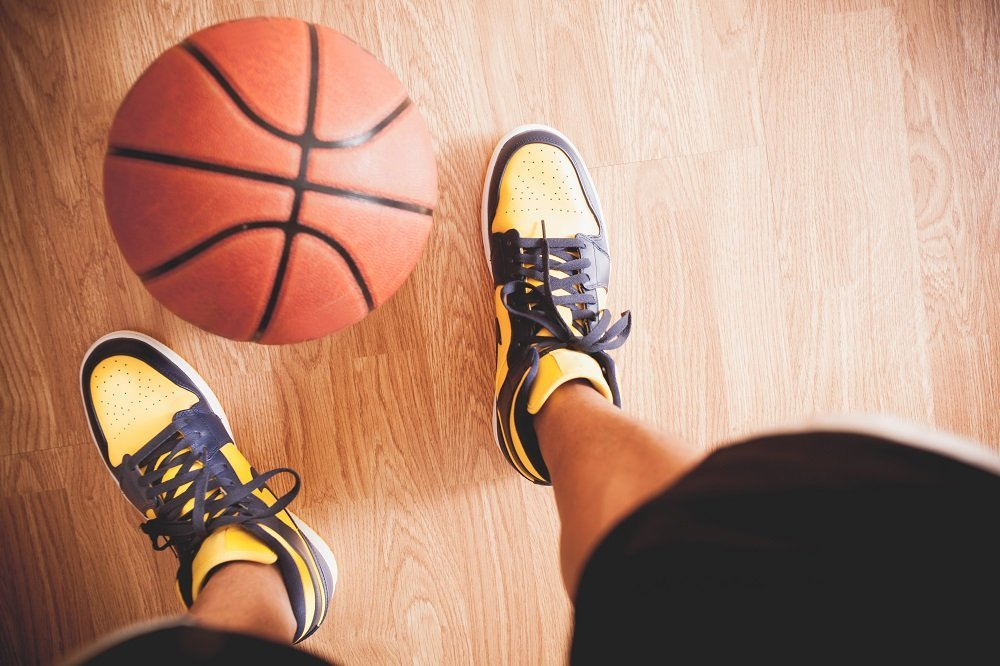 Basketball shoes clean