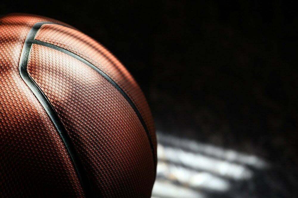clean basketball ball